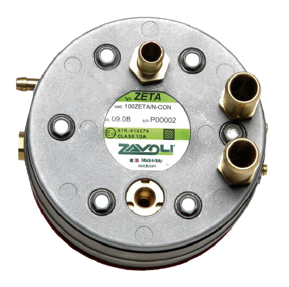 Verdampfer Zeta ist geeignet für Arbeitsdruck bis max. 45 bar