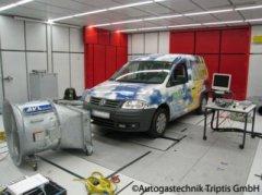 Autogas Abgastest